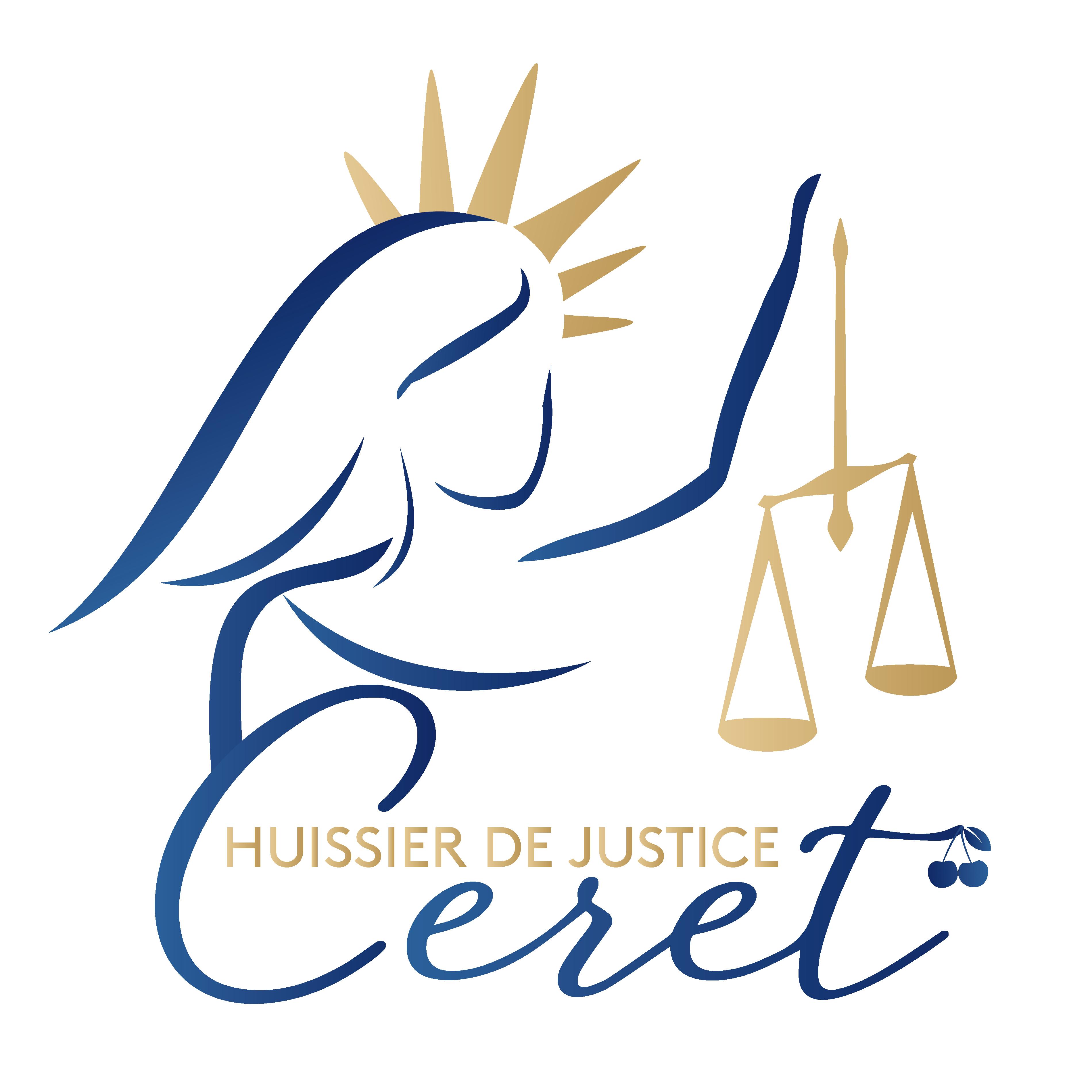 Logo carré Huissier de Justice Ceret